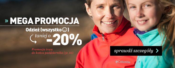 Promocja na wszystko do 31.10.2014  taniej - 20% w turystycznym sklepie landersen.pl