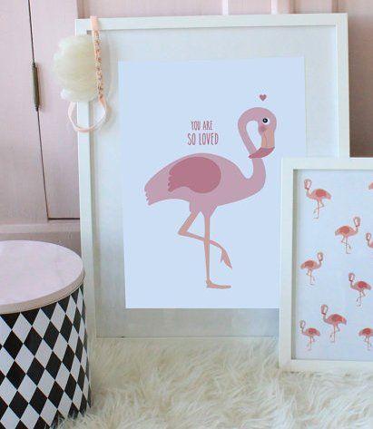 Flamingo print - via DTLL.
