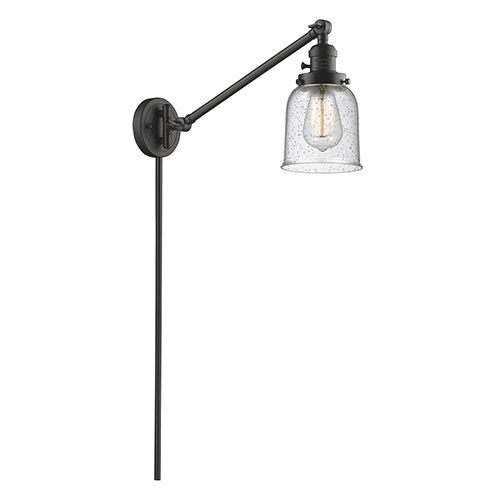 Innovations Lighting 237 Ob G54 Small Bell Oiled Rubbed Bronze 25 Inch One Light Swing Arm Wall Sconce With Seedy Bell Innovations Lighting Swing Arm Wall Lamps