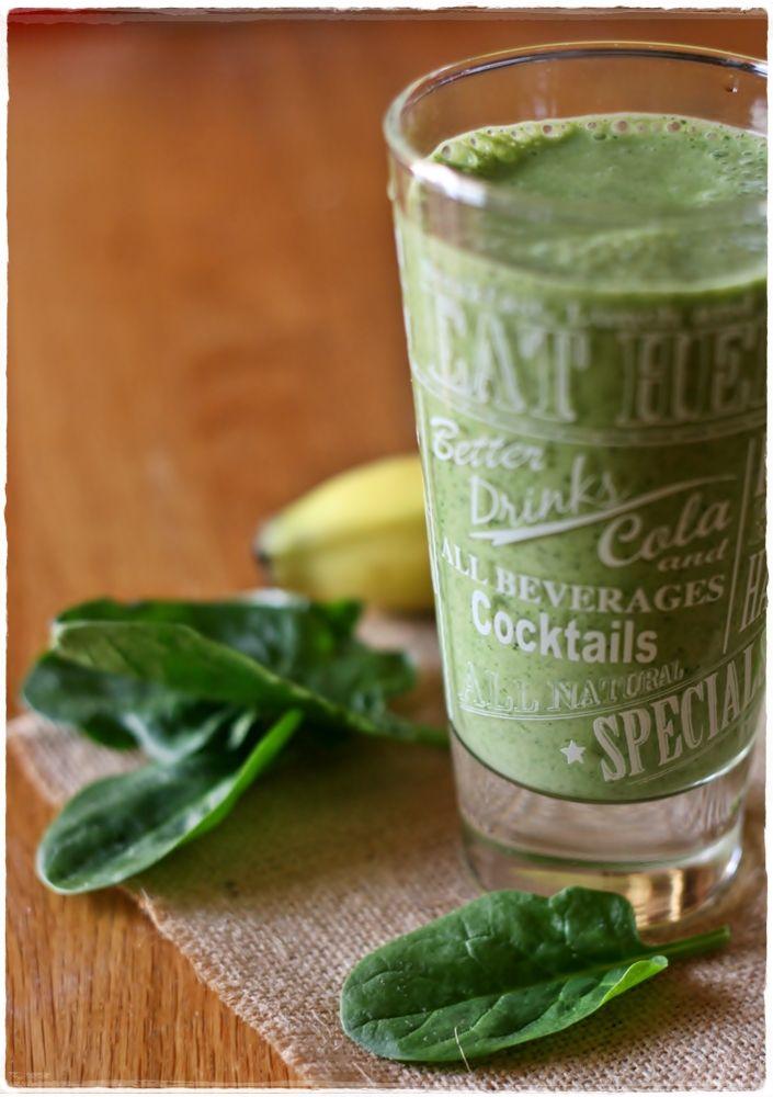 Vegan spinach and banana smoothie - Frullato vegan di spinaci e banana