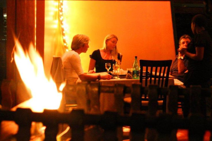 The perfect #dinner spot! #winter #fire