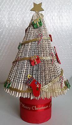 Folded book art Christmas Tree