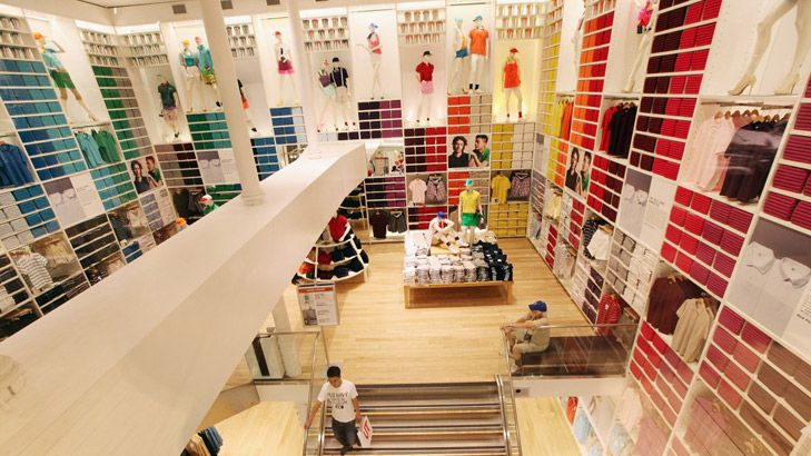 Japanese cool ... a Uniqlo store.