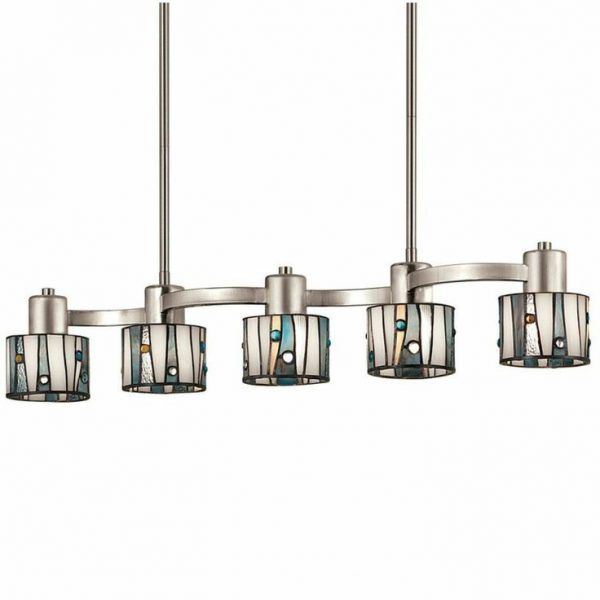 Merveilleux Brushed Nickel Kitchen Lighting With Stainless Steel Pendant Light Fixtures  Also Warm White Fluorescent Bulbs Inside