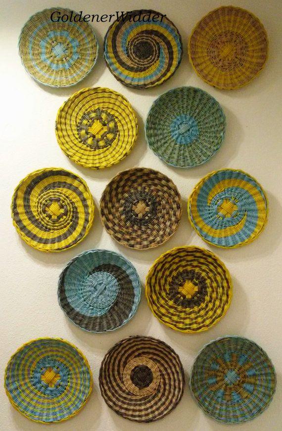 Ökoprodukt Basket Decoration Wand Teller. von GoldenerWidder