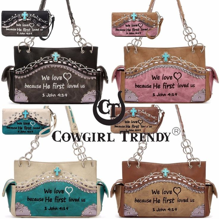 Embroidery John Bible Verse Purse Western Handbags Totes Shoulder Bag Wallet Set #CowgirlTrendy #ShoulderBagWithWalletSet