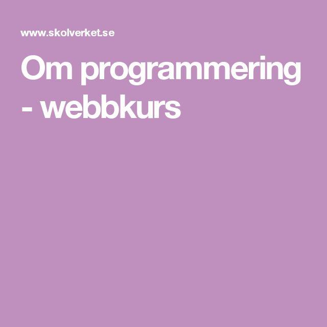 Om programmering - webbkurs från Skolverket