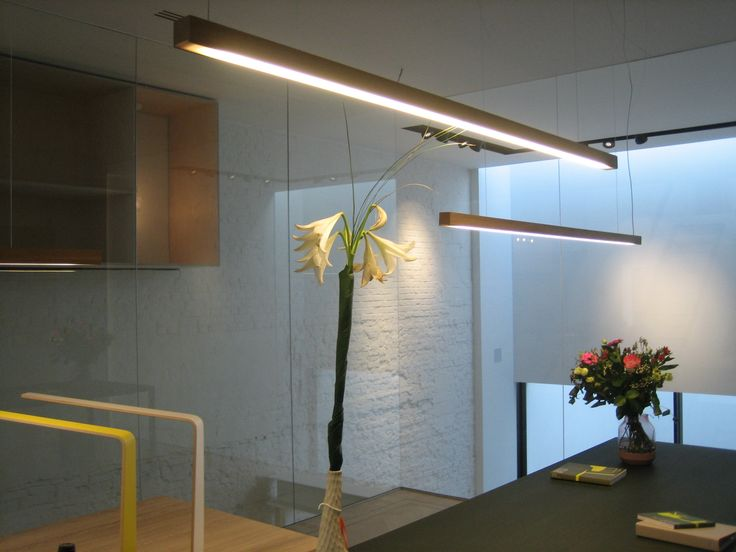 Ante showroom in Sint-Niklaas, Belgium with Led40 pendant and Led4 table lamps