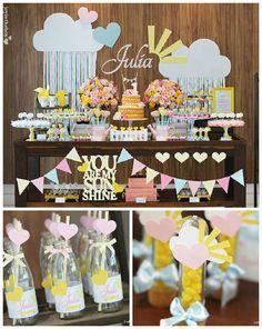 You Are My Sunshine themed birthday party via Kara's Party Ideas…