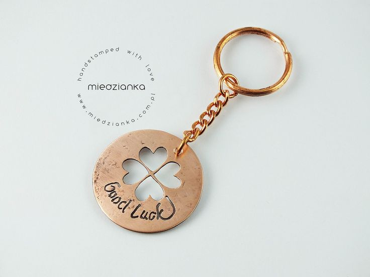 Good Luck Keychain made from copper made in Lodz / Poland / www.facebook.com/miedzianka