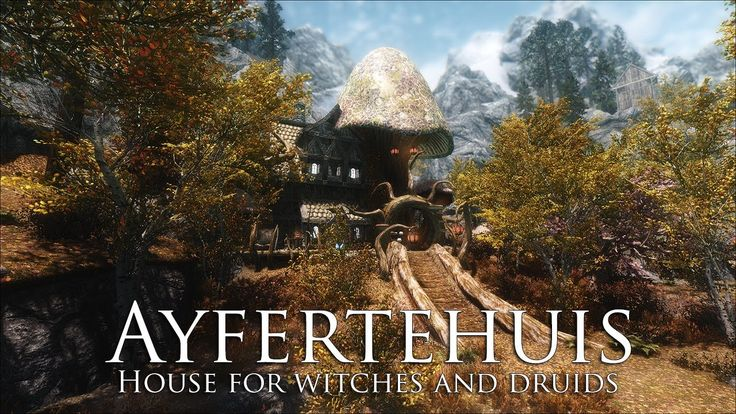 Tes V Skyrim Mods House For Witches And Druids Ayfertehuis Skyrim Skyrim Mods Skyrim House Mods