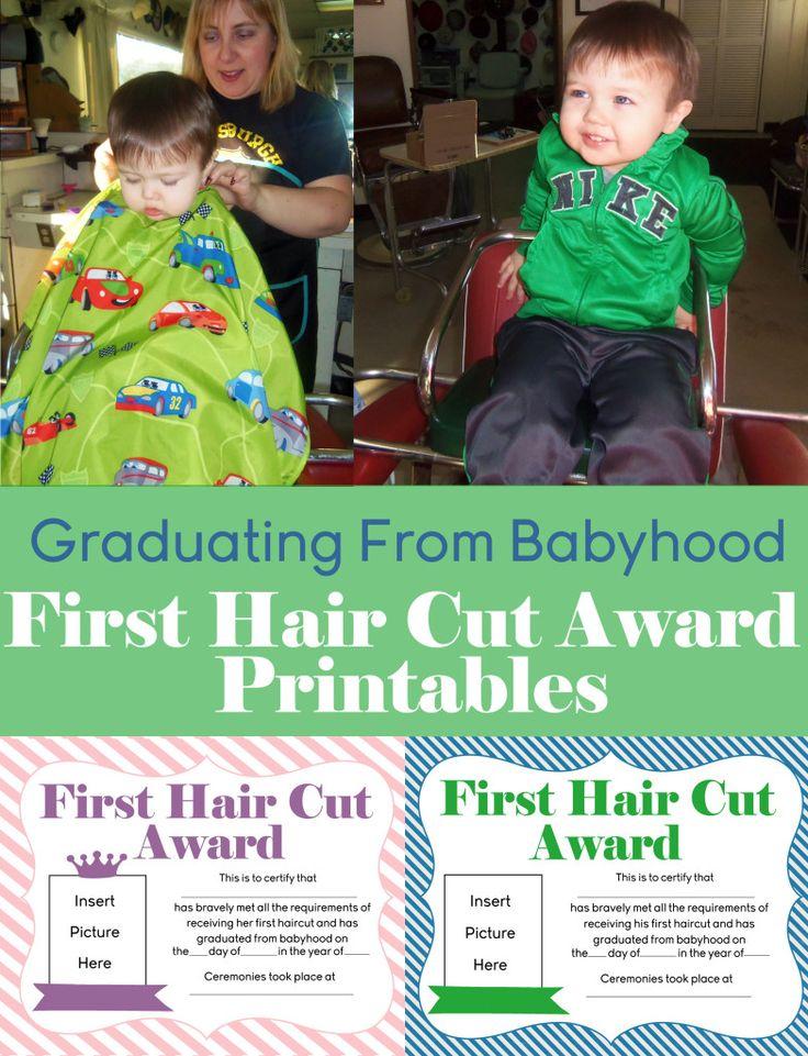 Free First Hair Cut Award Printables Printable