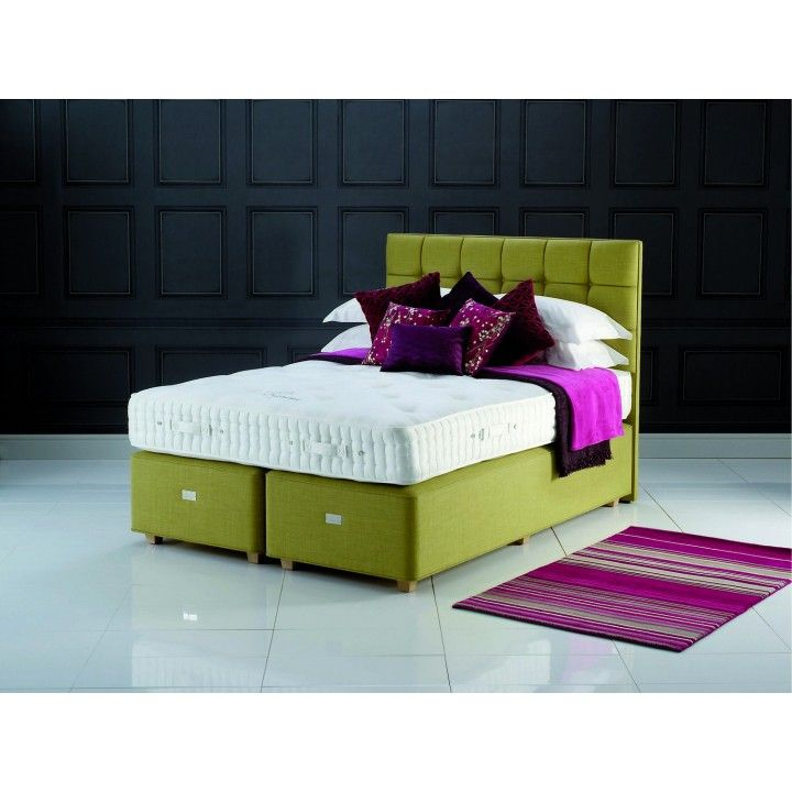The Hypnos Regency Hampton Supreme Super King Size Zip Link Divan Bed Features Unique And Intelligent Ultrasens Spring System In Mattress With 15