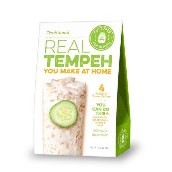 Cultures For Health Traditional Real Tempeh Culture Starter - 4 Packets