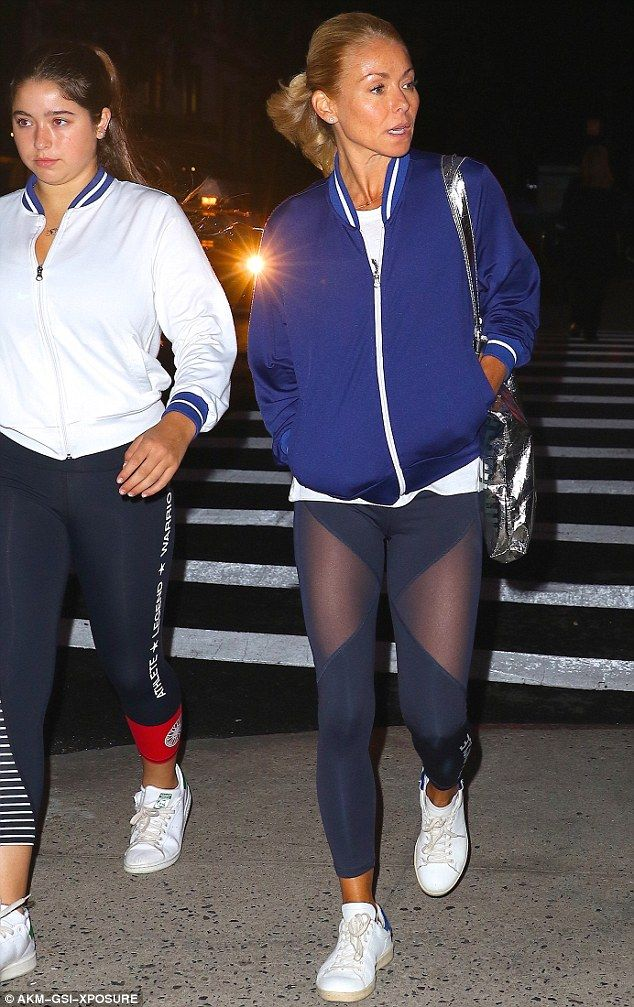Family bonding! Kelly Ripa, 45, enjoyed a workout with daughter Lola Consuelos, 15, on Monday in New York