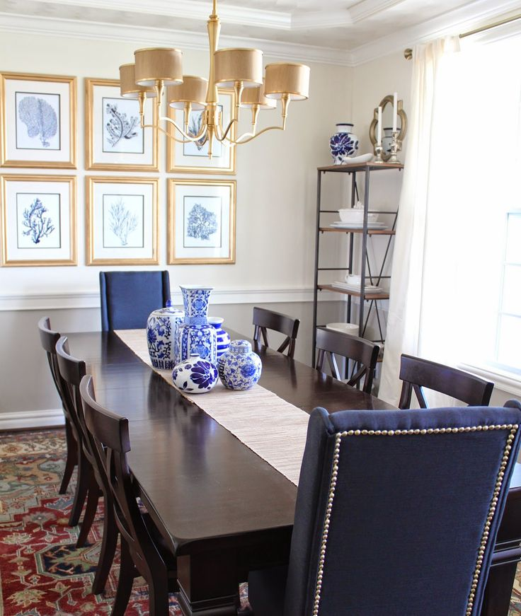 17 best ideas about navy dining rooms on pinterest blue for Dining room navy blue