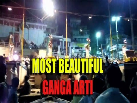Walking in Varanasi ghat/Famous & Beautiful Ganga Arti in Banaras(MUST WATCH)