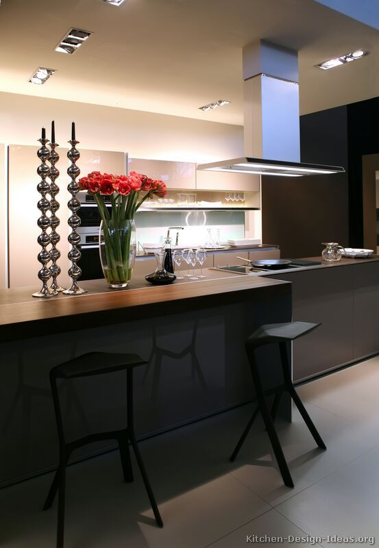 modern luxury kitchen with island seating