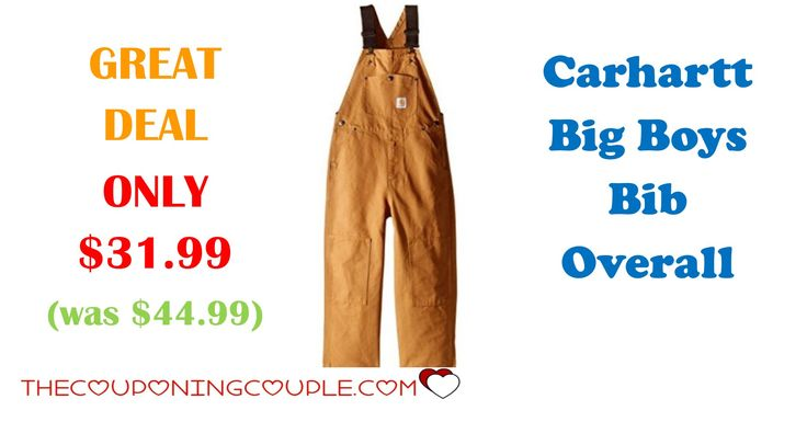 Cold Season has hit almost everywhere. Get your child the Carhartt Big Boys Bib Overall for ONLY $31.99 (was $44.99)!   Click the link below to get all of the details ► http://www.thecouponingcouple.com/carhartt-big-boys-bib-overall/ #Coupons #Couponing #CouponCommunity  Visit us at http://www.thecouponingcouple.com for more great posts!