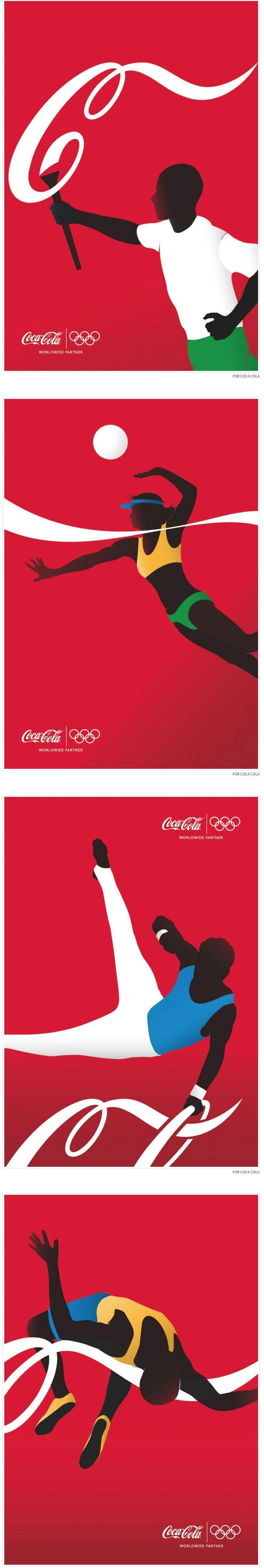 Creative COCA COLA Olympic #Ads #graphic #graphicdesign #design
