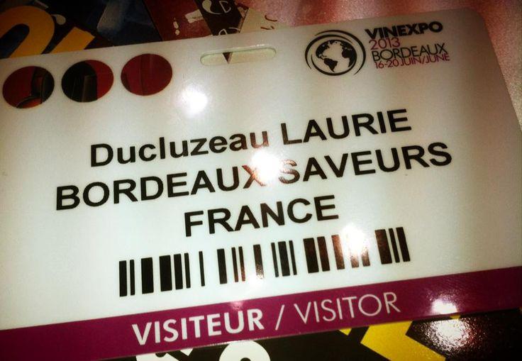#Vinexpo 2013 : une fierté pour une étudiante/stagiaire d'entrer dans la cour des grands !