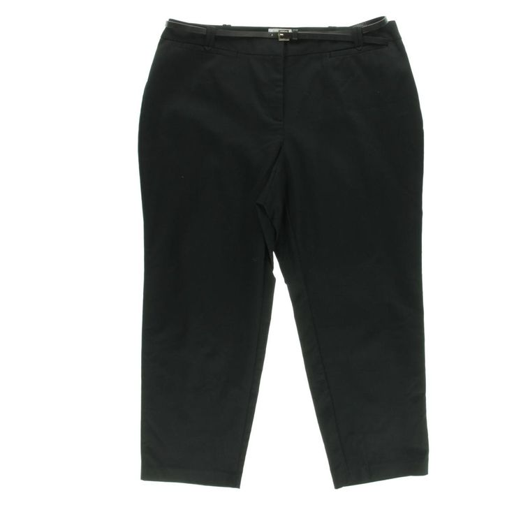Charter Club Womens Plus Twill Curvy Fit Ankle Pants