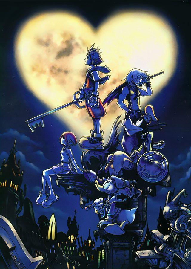 Kingdom Hearts   Square Enix   Disney Interactive Studios / Kingdom Hearts US Box Art (Sora, Donald, Goofy, Riku, Kairi, and a Shadow Heartless)