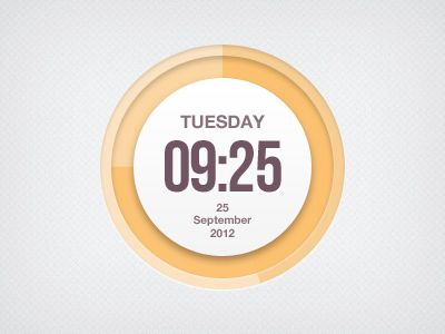 clock 20 Awesome Graphically Designed Clocks