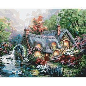 Plaid Paint by Number 16 in. x 20 in. 24-Color Kit Cottage Mill Paint by Number-21707 at The Home Depot