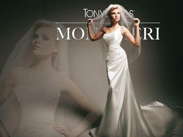 Coming soon! One-shoulder satin slim A-line with asymmetrical neckline!  Style No. T113244~Tony Bowls