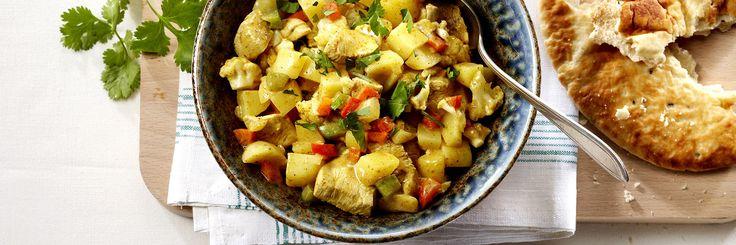♥ Indiase aardappelcurry met bloemkool