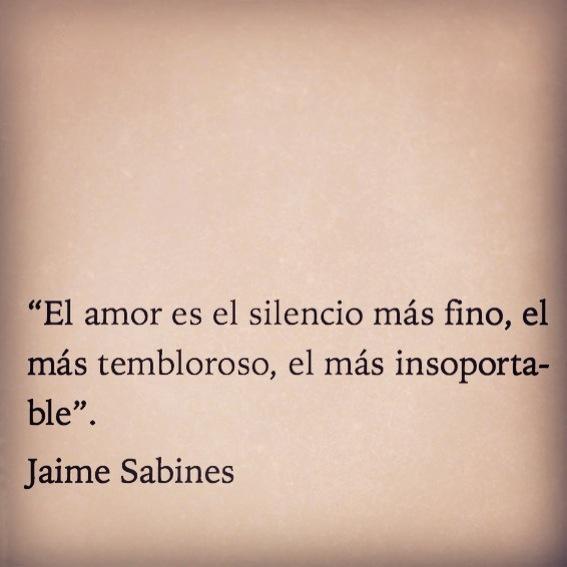 """""""El amor es el silencio mas fino, el mas tembloroso, el mas insoportable."""""""