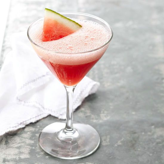 When the sun is bright and the air is hot, take an afternoon breather with a refreshing martini. Fresh farmers market watermelon, a splash of liquor, and a hint of lime juice make this 150-calorie libation the perfect summer drink.