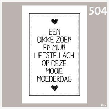 Tekstposter Moederdag 504