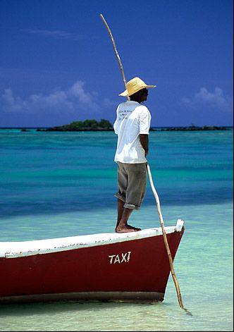Mauritius Taxi boat - , Riviere du Rempart - Mauritius