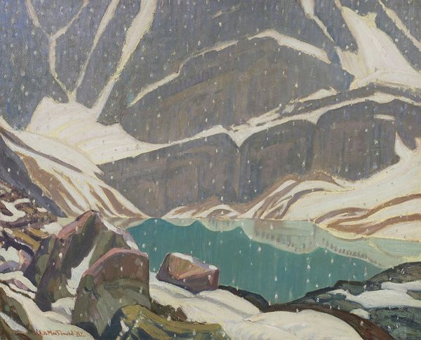 J.E.H. MacDonald | Mountain Solitude (Lake Oesa), 1932 | Oil on canvas, 50.4 x…
