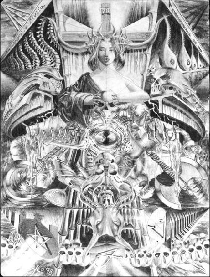 "Yordi Lara-Ochoa ""Conversation"" Pencil on paper 21 x 29.7 cm 1998"