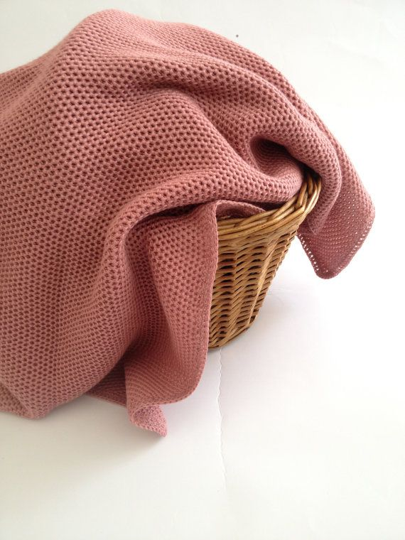 Baby blanket Knit afghan Gift for New Baby  Swaddle by MarumaKids