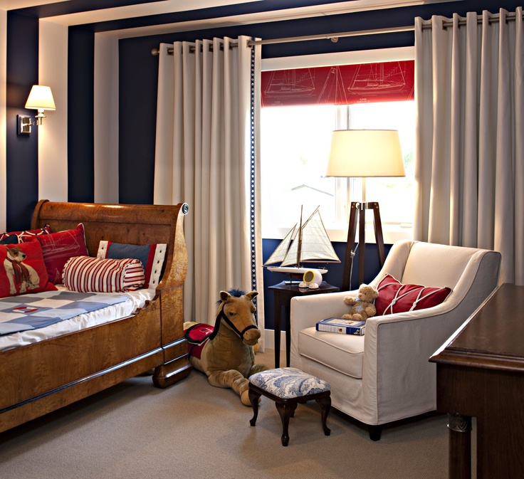 Boy's bedroom with nautical theme by Corea Sotropa