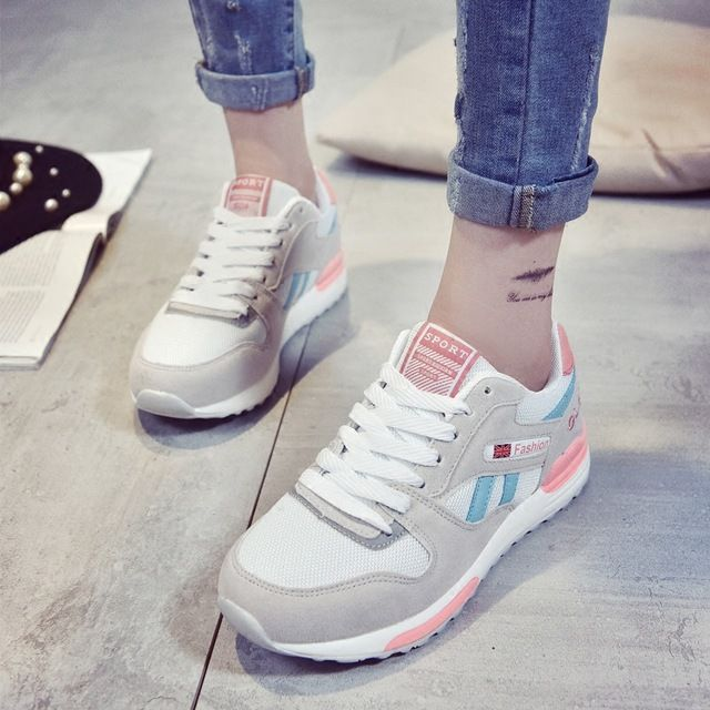 US $26.18 - 26.94 Korean version of the new casual shoes heavy-bottomed women shoes breathable Mesh shoes