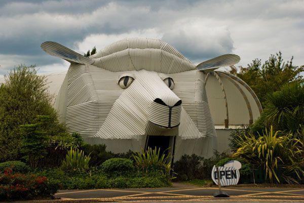 The sheep building in Tirau, Waikato