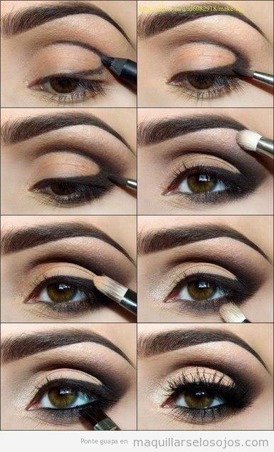 Como Pintar los Ojos Ahumados Paso a Paso y para varios colores de ojos