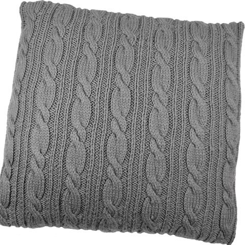 Cable Stitch Knit Cushion Cover Knitting.