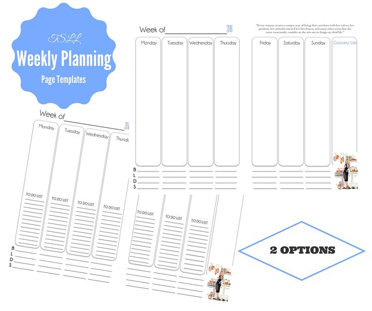 33 best TSLL Planner Templates images on Pinterest Planner - planner page templates