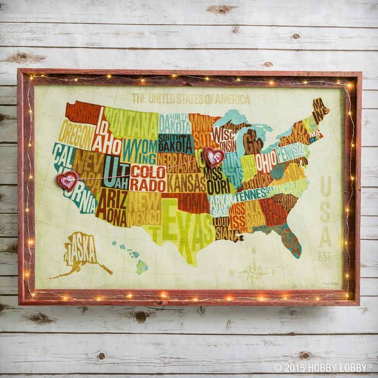 Best Valentines Day Decor Crafts Images On Pinterest - Hobby lobby us map