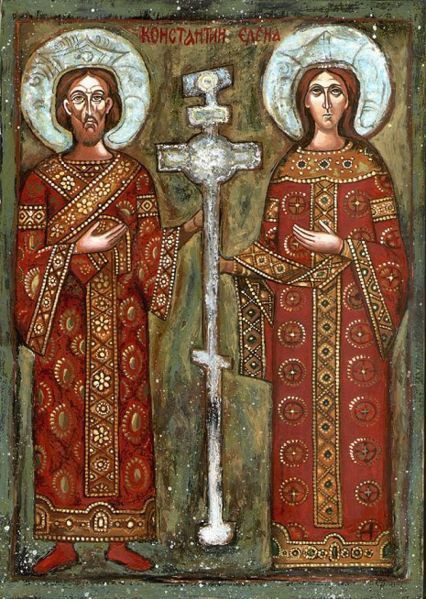 Saint Constantine the Great with Saint Helena, his mother.