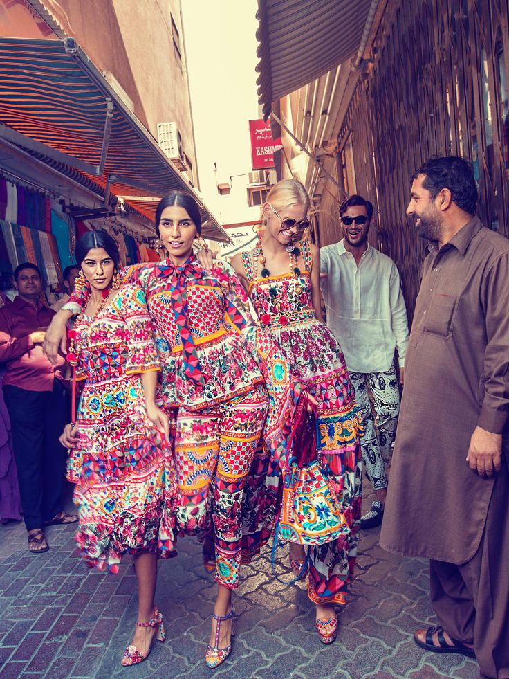 Be inspired by Souk street in Dubai, wearing #DGMambo Collection.  Photo by Morelli Brothers