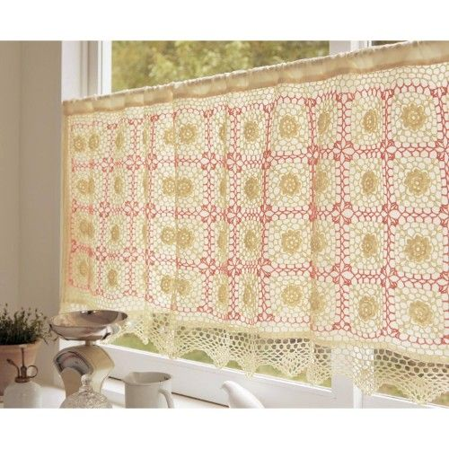 Crochet Kitchen Curtains: 66 Best Images About Crochet Cafe Curtains On Pinterest