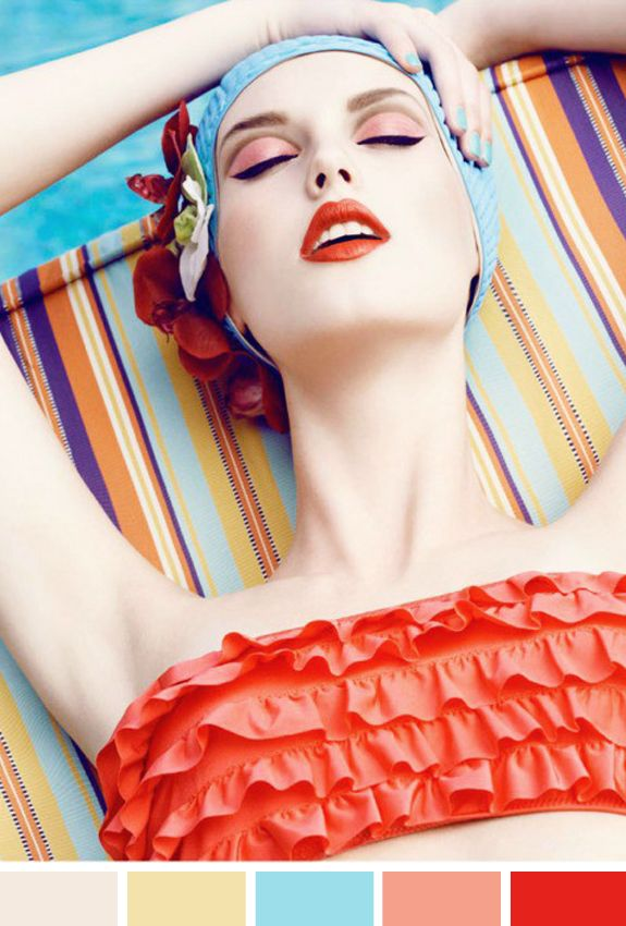 : Candies Colors, Inspiration, Summer Makeup, Beautiful, Lips, Parties Looks, Swimming Cap, Pools Parties, Summer Colors