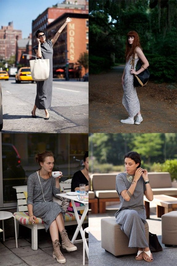 long grey dresses